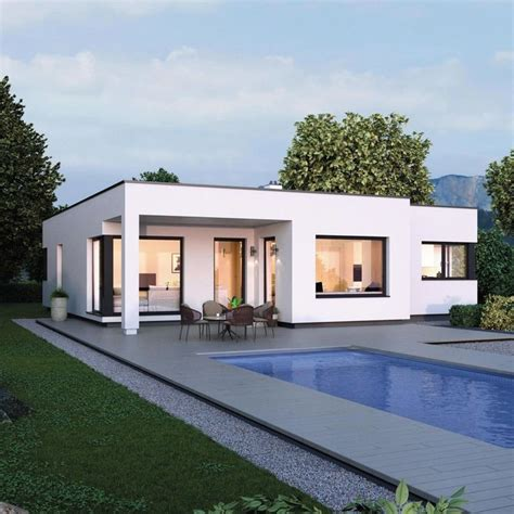 design bungalow im bauhausstil mit flachdach architektur