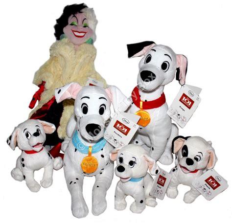 Disney S 101 Dalmatians 101 dalmatians plush pongo perdita cruella patch