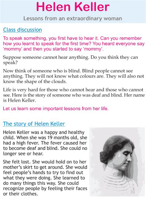 biography of helen keller in short personality development course grade 2 lesson 21 helen