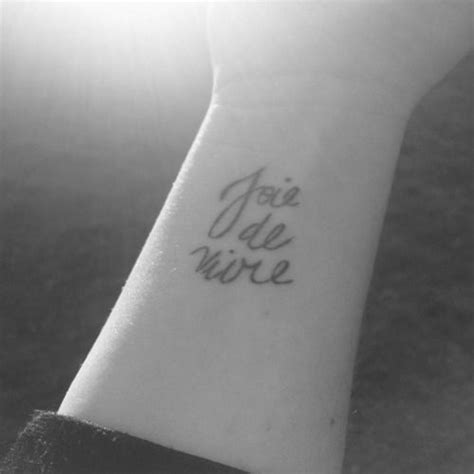 joie de vivre tattoo best 25 wrist ideas on faith tattoos