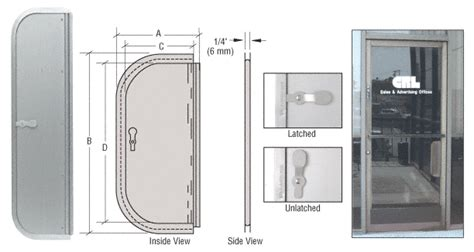 Mail Slot In Glass Door Crl Satin Anodized 4 1 2 Quot X 12 Quot Package Drop Slot