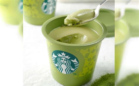 Silky Pudding Green Tea Matcha 320gr welcome with a cup of matcha pudding from starbucks japan grape