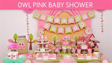 Owl Themed Baby Shower Decorations by Owl Pink Baby Shower Ideas Owl Pink S23