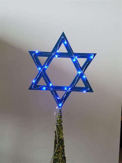 tree topper with lights light up of david tree topper for hanukkah