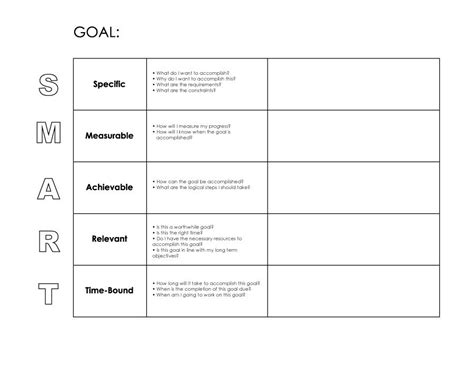 objective setting template 48 smart goals templates exles worksheets ᐅ template lab