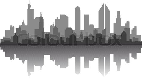 City Outline Vector by City Skyline Stock Vector Colourbox