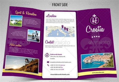 brochure template resort 25 hotel brochure templates devfloat