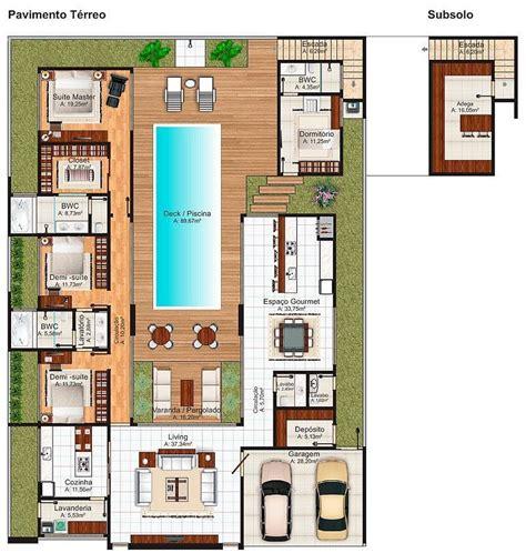 Desenhar Plantas De Casas casas com piscinas 60 modelos projetos e fotos