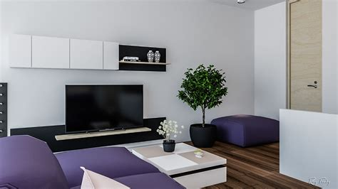 black and purple living room bright homes in three styles pop art scandinavian and