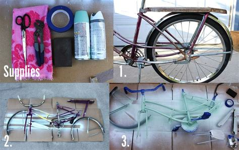 spray paint your bike how to paint your own bike a beautiful mess