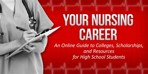 your nursing career an guide to colleges scholarships and resources for high school