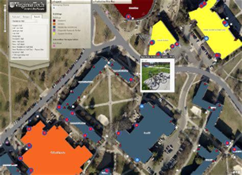 virginia tech interactive map interactive virginia tech map offers customization rich