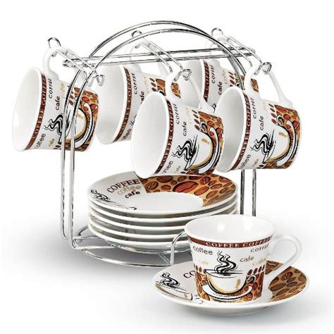 Top Rated Espresso Cup Sets With Storage Racks   Coffee Gear at Home