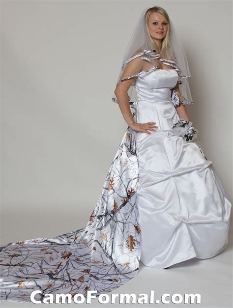 White Camo Wedding Dresses by Bridal And Wedding Dress With Camouflage Sash Camouflage