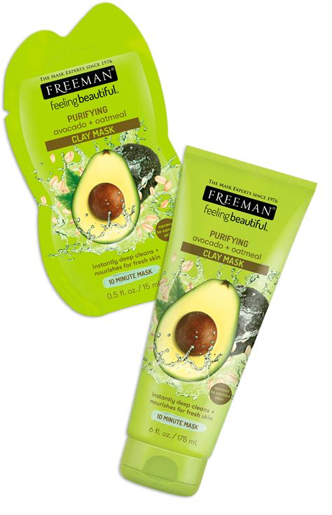 Freeman Pueifying Avocado Oatmeal Mask freeman feeling beautiful clay mask avocado oatmeal purifying review masks for acne
