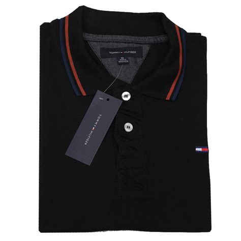 tommy hilfiger polo shirt sbp black