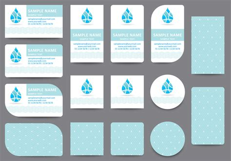 name cards template water name card templates free vector