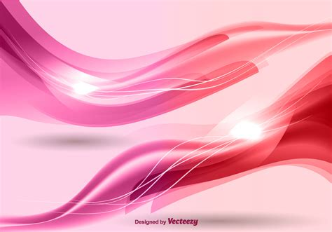 pink background pink waves background vector free vector
