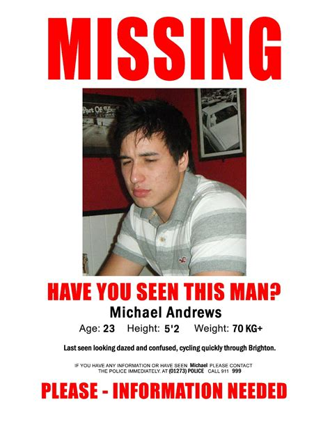 missing person poster have you seen me www imgkid com