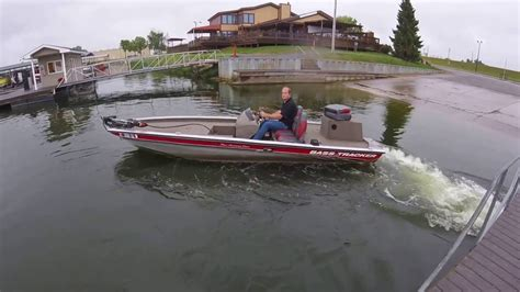bass boat jet outboard bass tracker jet boat 175hp water test 1 3 morse youtube
