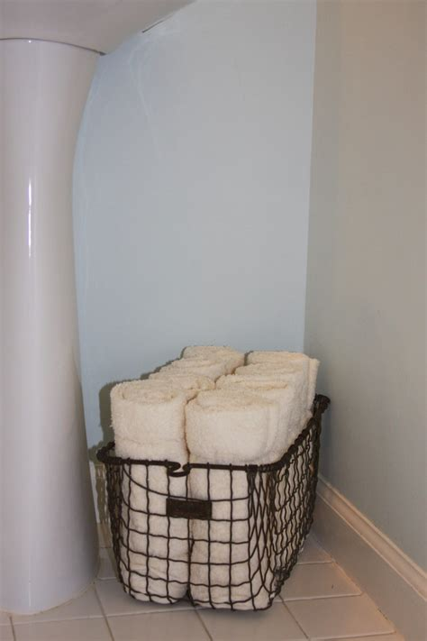 Basket Bathroom Storage Interior Design Ideas For Powder Room Storage Spaces