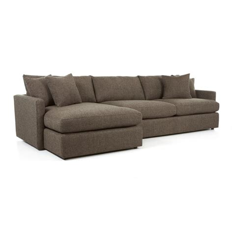 Crate And Barrel Lounge by Lounge Ii 2 Sectional Sofa Truffle Crate And Barrel