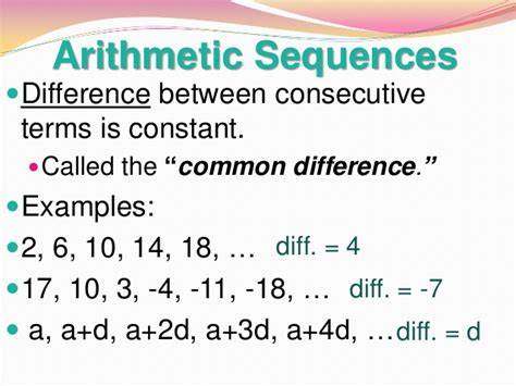 geometric pattern vs arithmetic called the common difference