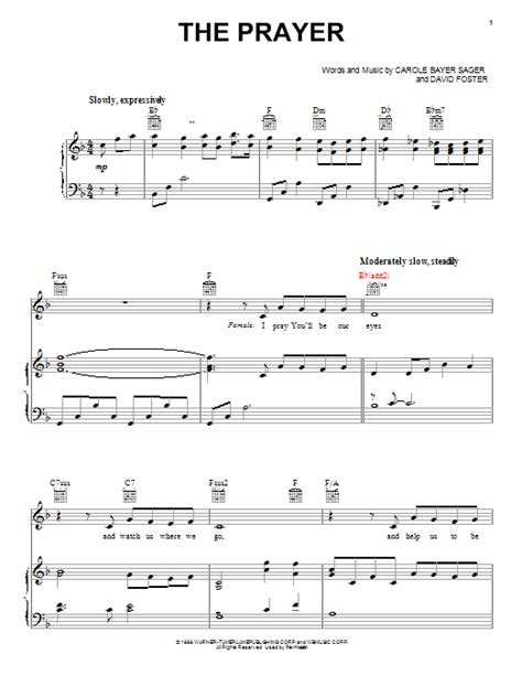 tutorial piano prayer in c the prayer sheet music by donnie mcclurkin piano vocal