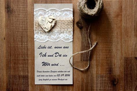 Hochzeitseinladung Jute Spitze by Einladungskarten Einladung Hochzeit Jubil 228 Um Jute Spitze