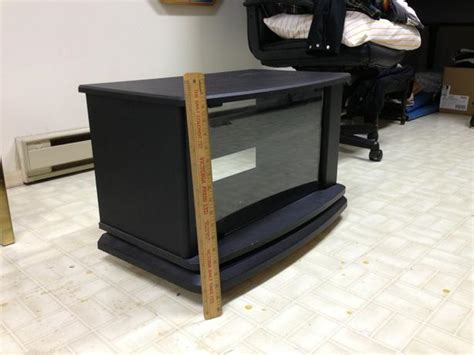 small tv stand with glass door and swivel obo