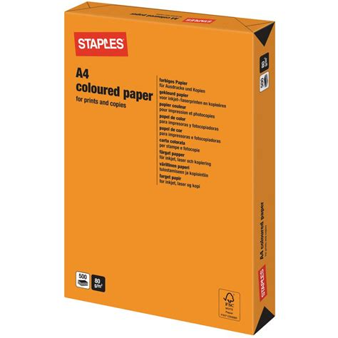 tattoo inkjet paper staples staples a4 80 gsm coloured paper for laser inkjet and