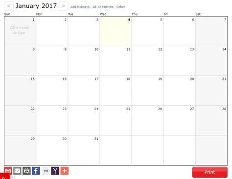 Calendario 2017 Para Imprimir Por Meses 3 P 225 Ginas Gratis Para Generar Tu Calendario 2017 Para Imprimir
