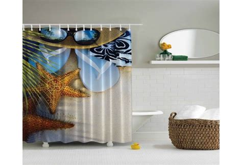 tropical themed shower curtains tropical beach theme shower curtain
