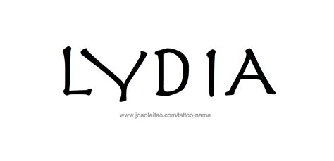 lydia tattoo lydia name designs