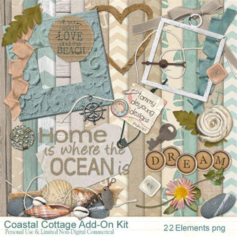 Scrapbook Cottage by Scrapbook Kit 2 Nautical Digital Papers Clip