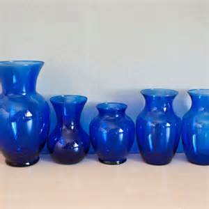 instant collection 5 cobalt blue vases from thewildworld