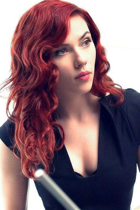 scarlet hair color warm hair color johansson black widow