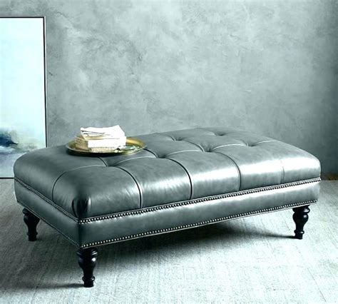 gray ottoman coffee table gray ottoman leather coffee table great grey co