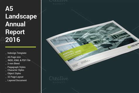 Indesign Landscape Report Template 187 Designtube Creative Design Content Indesign Landscape Template
