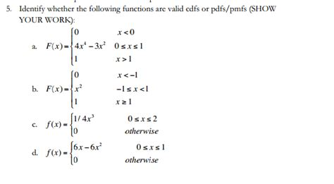 Pdf One Were Given Finding by Probability How To Determine If A Given Function Is A