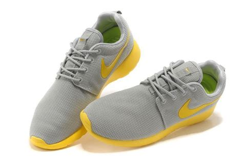 nike running shoes grey and yellow 2014 new nike roshe run grey yellow mesh running shoes