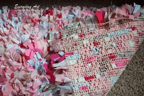 How To Make Handmade Rugs - everyday diy handmade rag rug tutorial