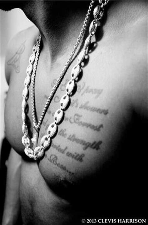 trey songz chest tattoo 139 best images about trey songz on