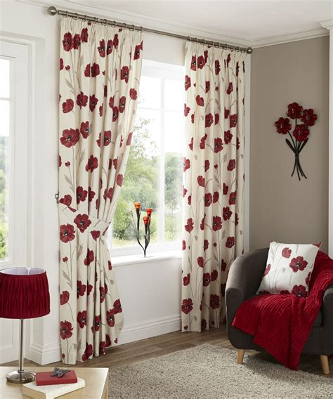Poppy Kitchen Curtains Country Poppy Pencil Pleat Curtains Ponden Home