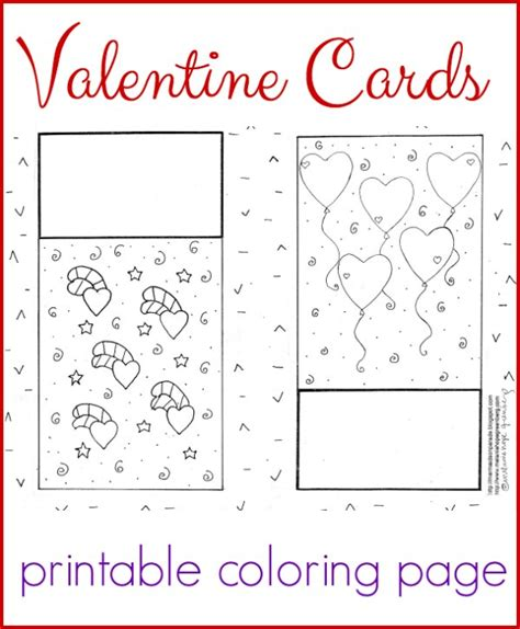 Darling Valentine Cards Coloring Page Printable Cards Coloring Pages