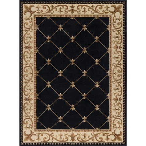 10 X 10 Ft Area Rugs - tayse rugs sensation black 7 ft x 10 ft traditional area