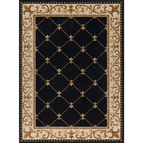 10 X 10 Black Area Rug - tayse rugs sensation black 7 ft x 10 ft traditional area
