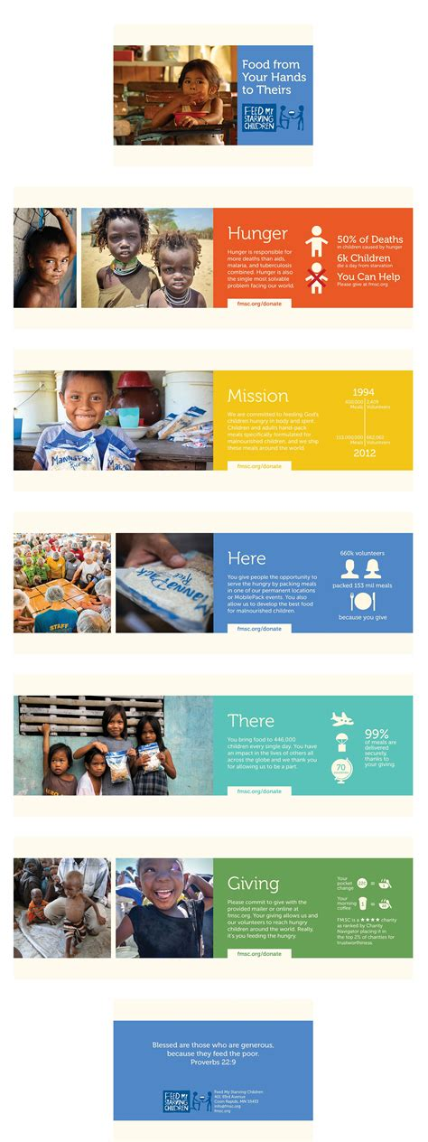 leaflet design rate charity brochure for feed my starving children project