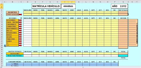 formato en excel control de ingresos y gastos personales formato en excel control de gastos veh 237 culos bs 11 000