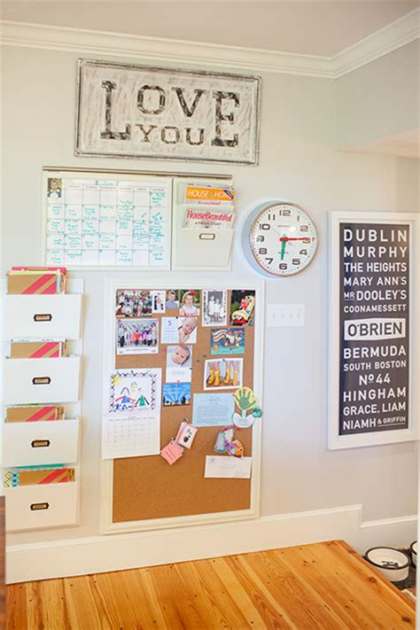 kitchen message center ideas playroom cork board design ideas